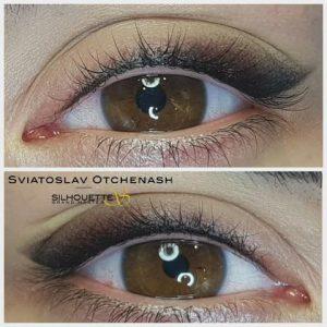 Maquillage permanent eyeliner shading