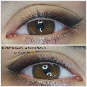 Maquillage permanent eyeliner shading